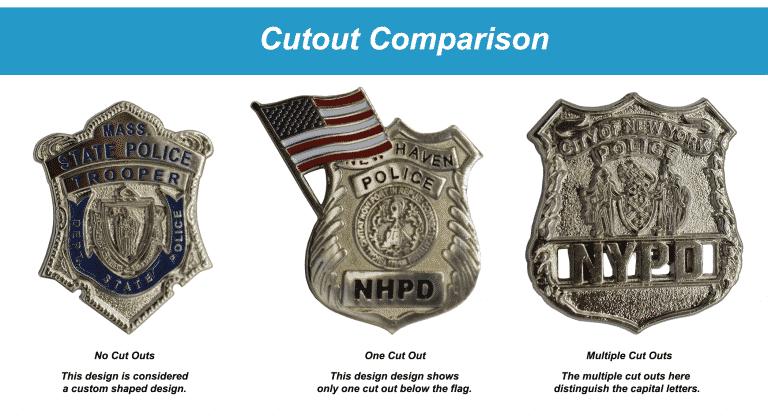 Lapel Pin Cutouts vs Cut to Shape