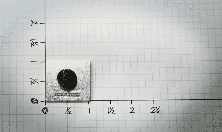 Measuring a Lapel Pin Size