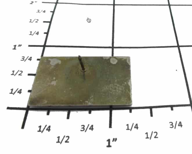 Measuring a Lapel Pin Using A Grid