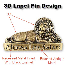 3D Lapel Pin Example