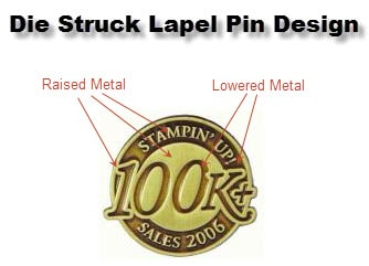 Die Struck Lapel Pin Example