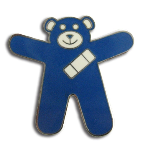 Blue Teddy Bear Pin - Child Sexual Abuse Awareness Pin