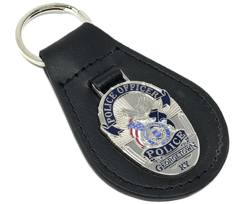 Custom Designed Leather Key Fobs