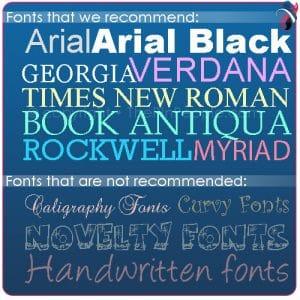 Lapel Pin Fonts