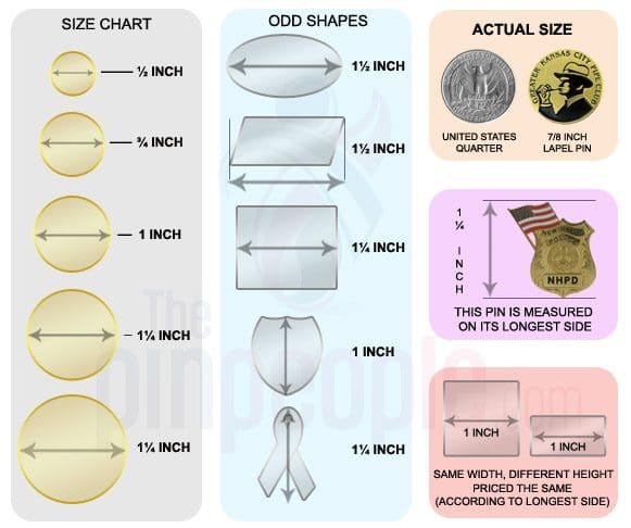 Lapel Pin Designing Factors - Size Matters! | The Pin People