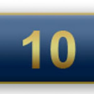 10 Years Of Service – Blue Citation Bar