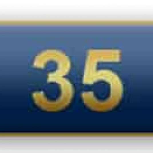 Blue 35 Years Of Service Citation Bar