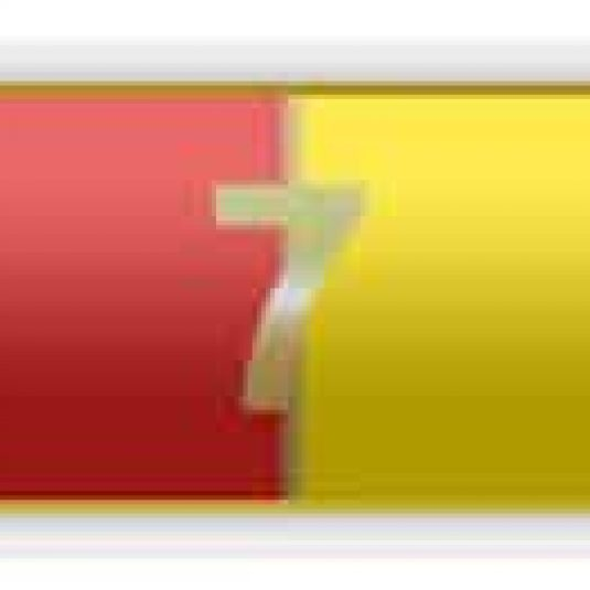 Red And Yellow 7 Years Of Service Citation Bar