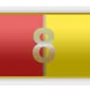 8 Years Of Service – Red And Yellow Citation Bar
