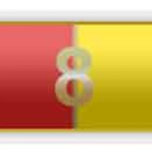 Red And Yellow 8 Years Of Service Citation Bar