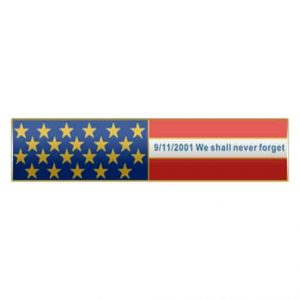 Never Forget 9/11 – American Flag Citation Bar