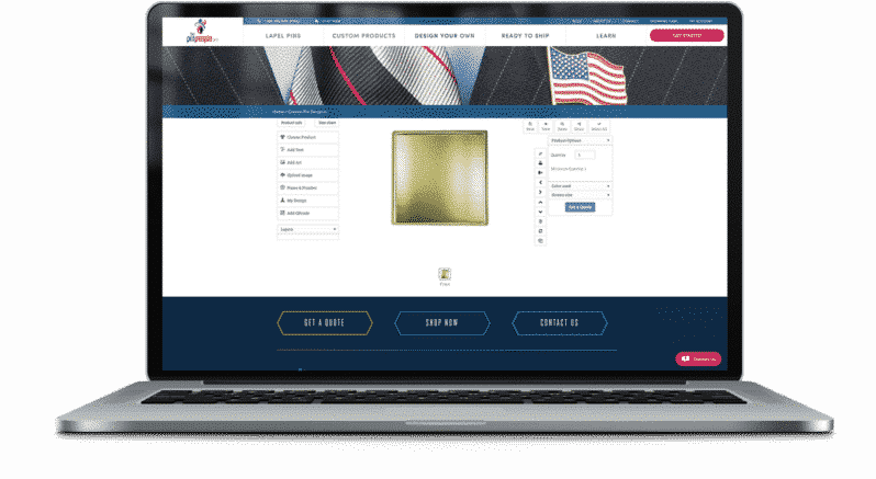 Online Lapel Pin Designer