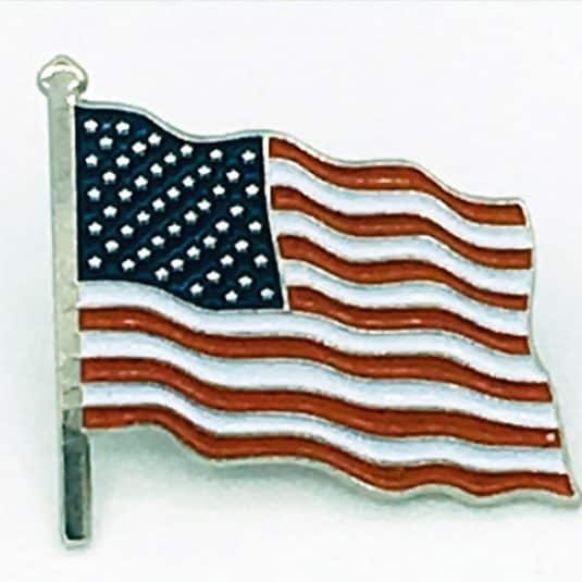 New American Flag Beautiful Lapel Pin