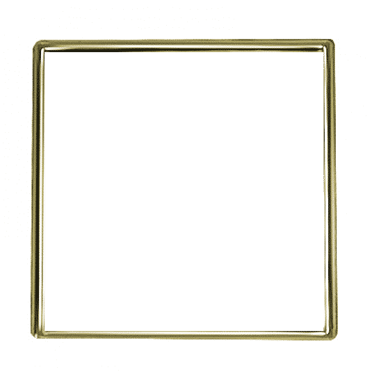 Square Gold 1 Inch Pin