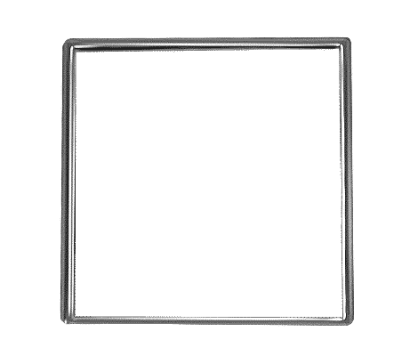 1 Inch Square Silver Lapel Pin